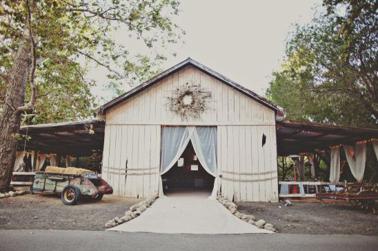 Reception in Barn at Dos Pueblos Ranch