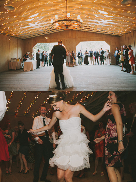 barn used as dance floor