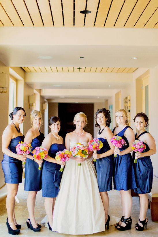 blue cocktail bridesmaid dresses
