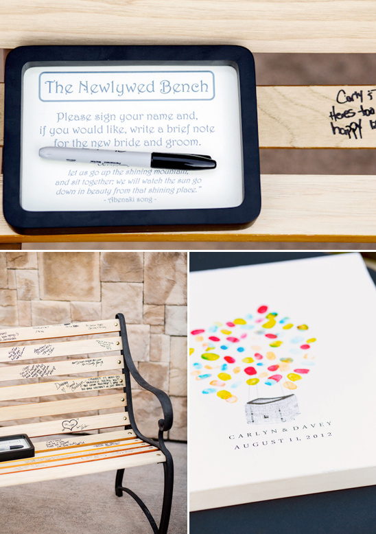 The Newlywed Bench instead of guestbook