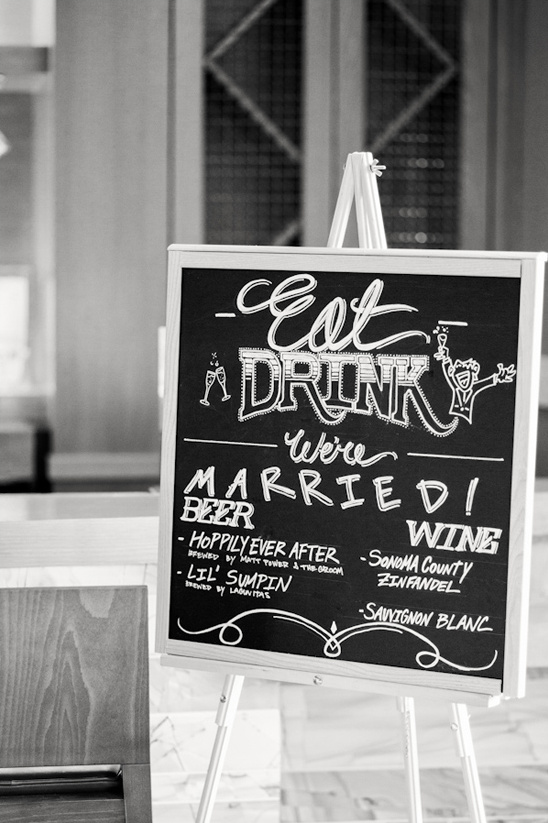 chalkboard Eat Drink We're Married drink menu