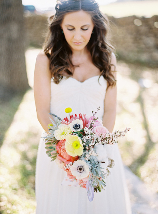 bright and colorful wedding bouquet by Lindy Floral