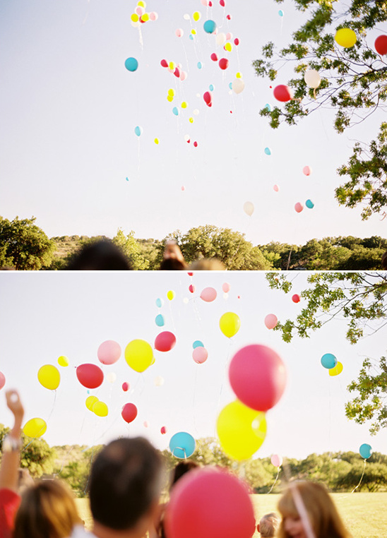 balloon release at wedding