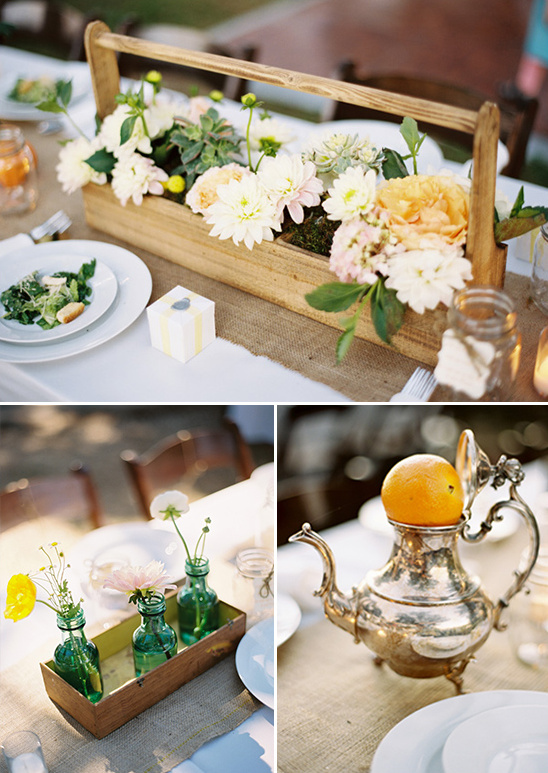 rustic chic table decor ideas designed by Joyful Details