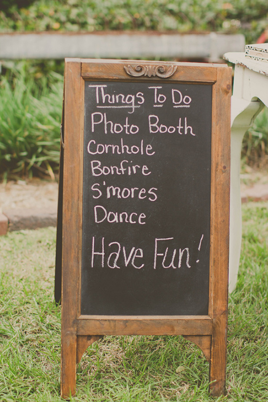 wedding chalk board sign