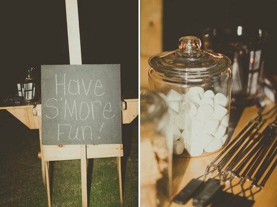 s'more at wedding reception