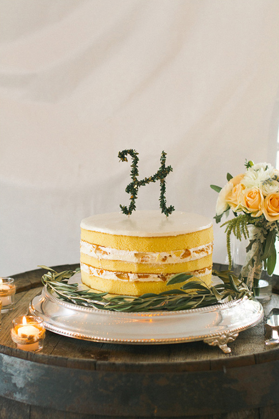 adorable monogram cake topper
