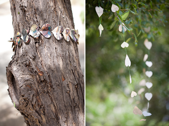 heart garland made of book pages from Montclair Made
