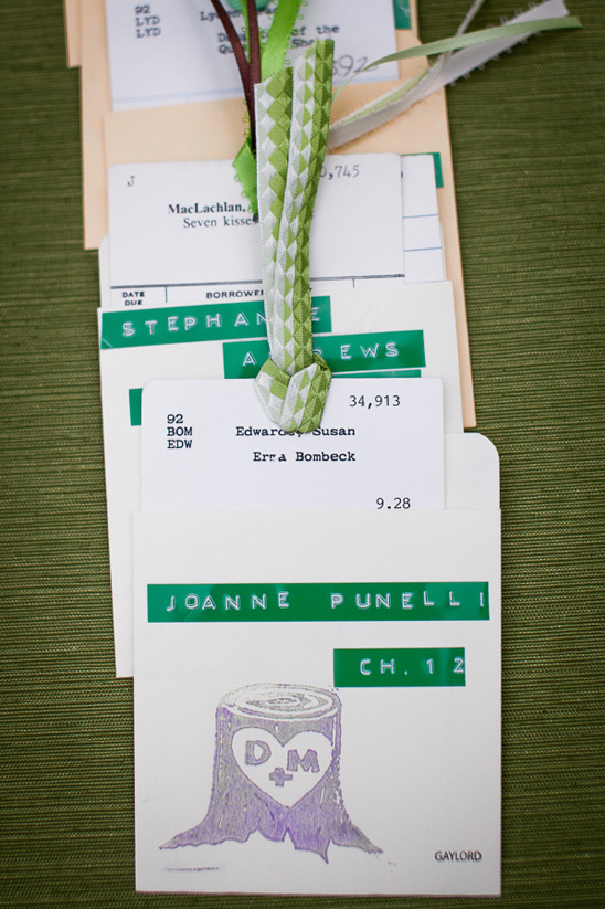 library book escort cards