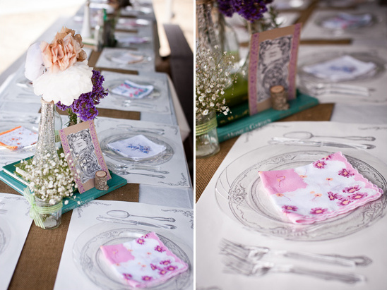 vintage table decor with placemats from Gray Living