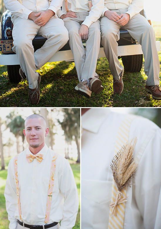 wheat used for rustic boutonniere