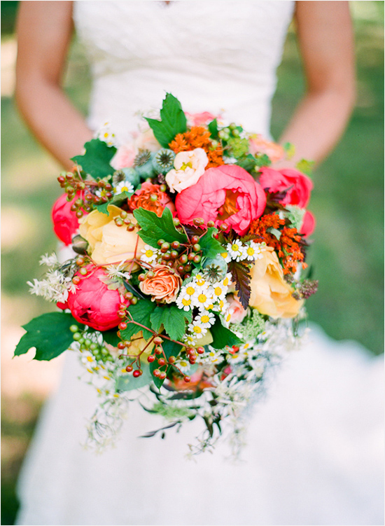 bright and bold wedding bouquet by Holly Chapple Flowers