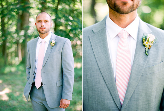 pink and gray looks for the groom