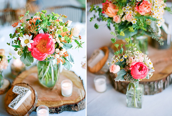 rustic wedding decor and flower ideas