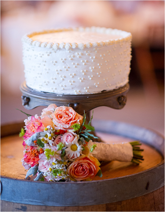 french dot wedding cake