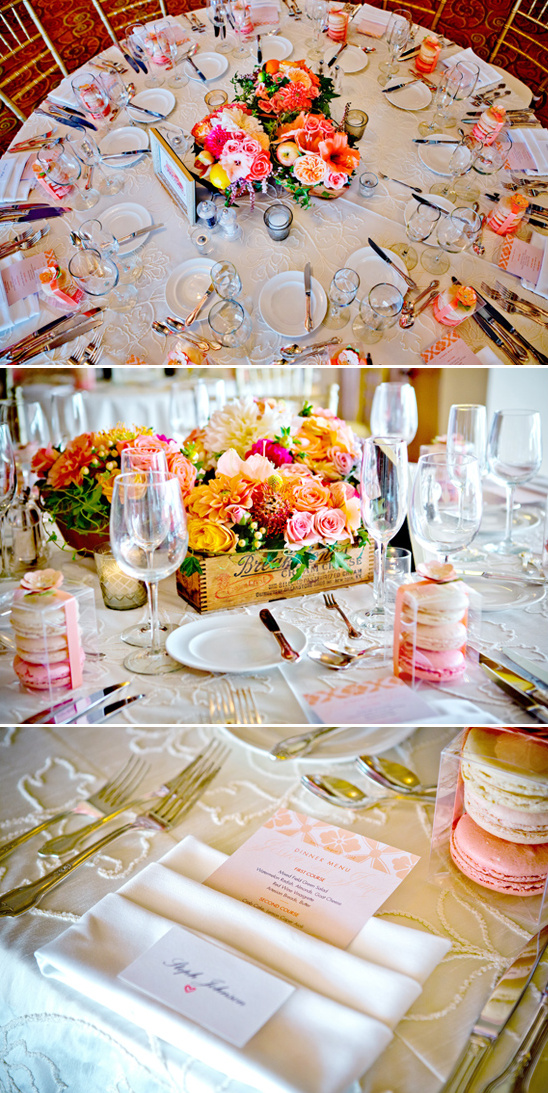peach, pink and orange table decoration ideas