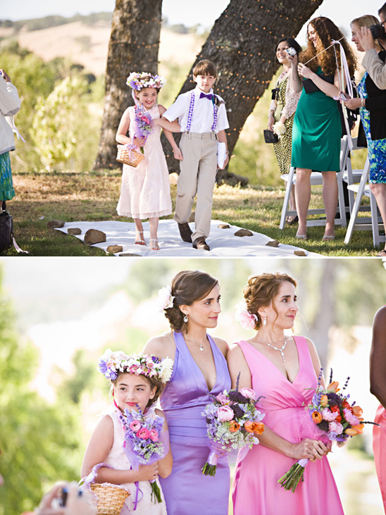 pink and purple outdoor ceremony ideas
