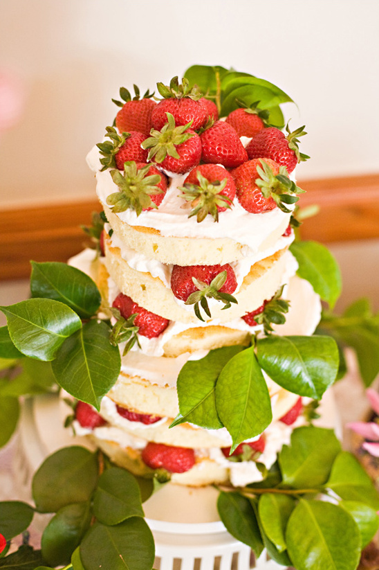 fresh strawberry cake by Pacific Harvest Catering