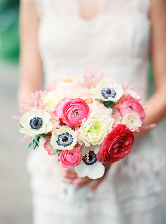 pink and white wedding bouquet by Camrose Hill Flowers