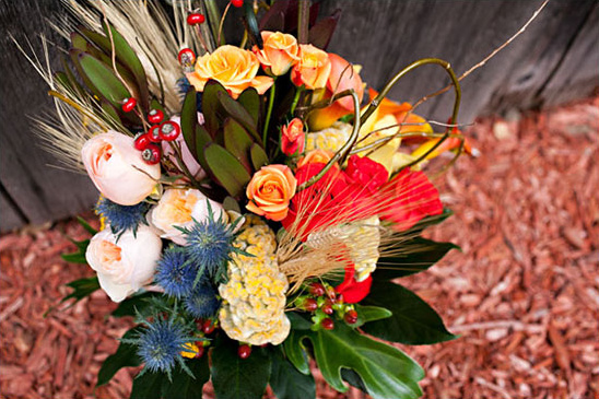 fall bridal bouquet by Eastern Floral
