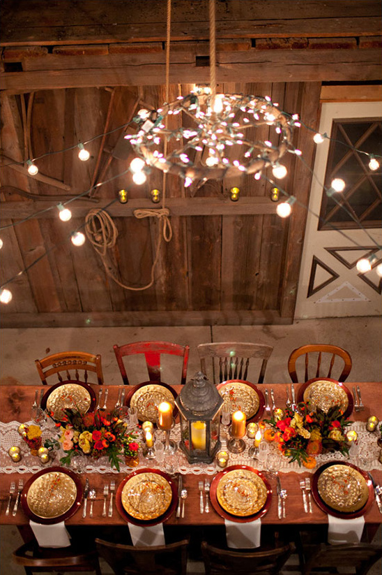 Rustic fall wedding ideas for Pictures of fall table decorations