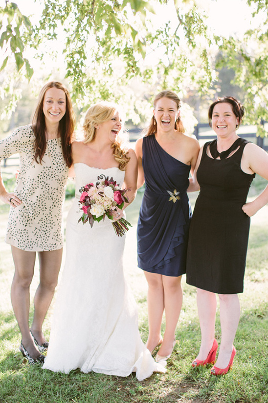 mismatched bridesmaid looks