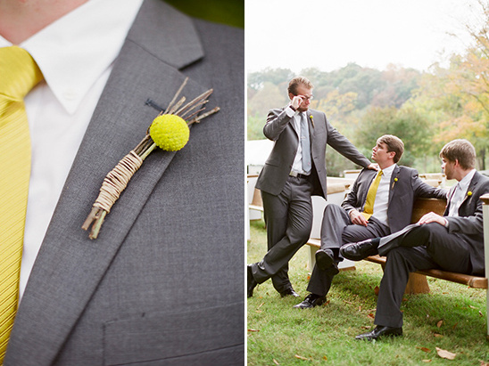groomsman billy button boutonniere