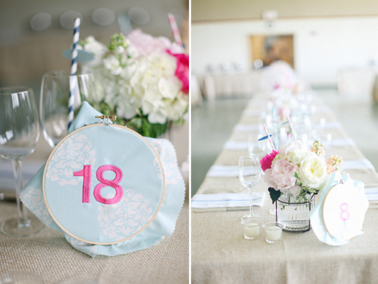 embroidery hoop table numbers