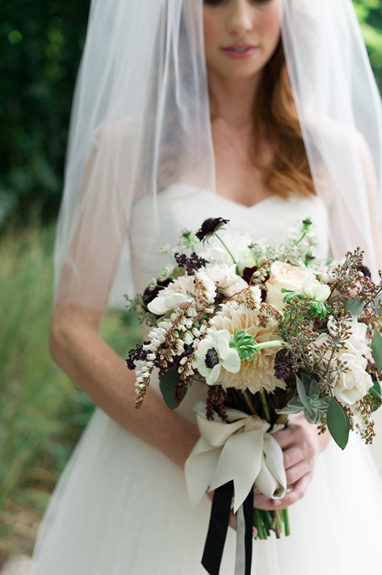 white and green wedding bouquet by Kat Flower