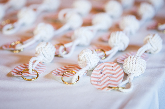 rope knot keychains for escort cards
