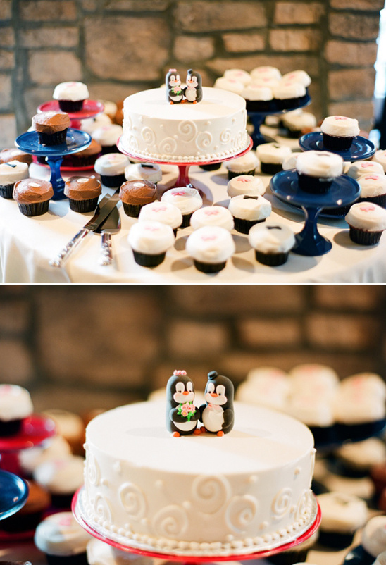 wedding cake by Sprinkles Cupcakes