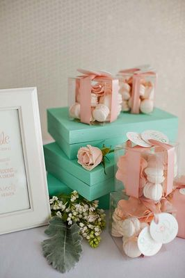 Romantic Mint, Peach and Gold Wedding Ideas