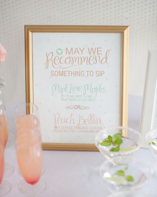 mint lime mojito sign