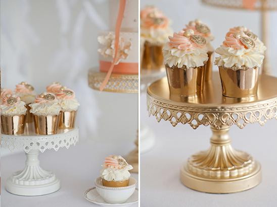 gold cupcakes