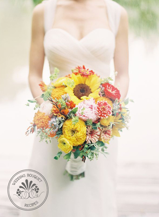 Blog Yellow And Orange Wedding Bouquet