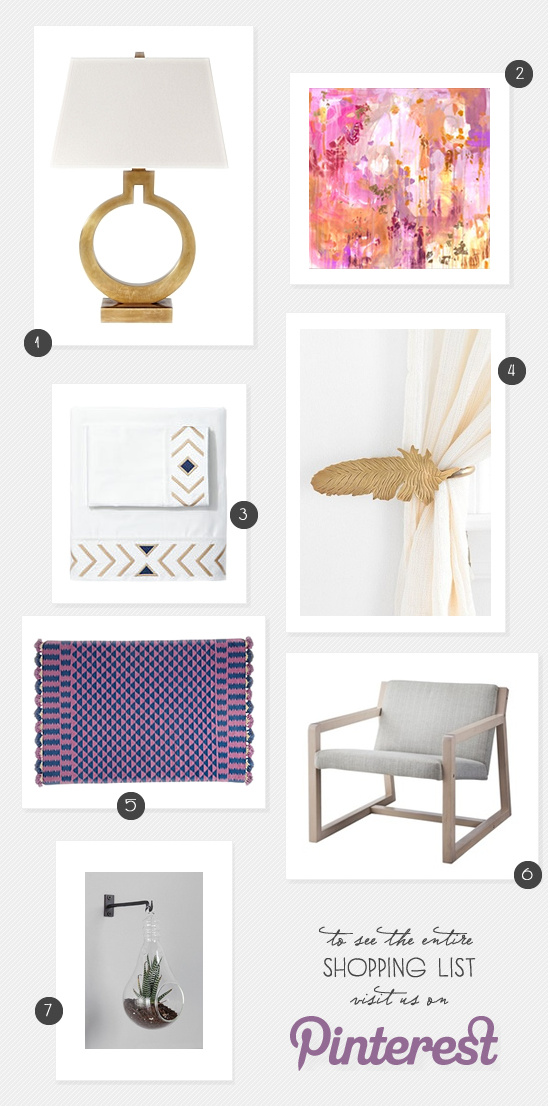 Room Redesign Shopping List