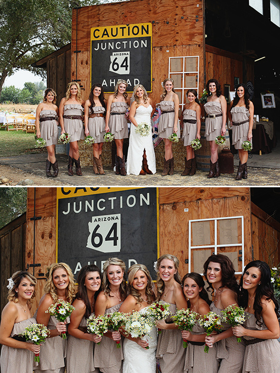 country bridesmaid looks