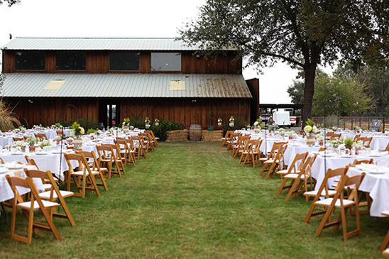 ceremony and reception in same area