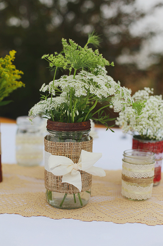 wildflower table decoration
