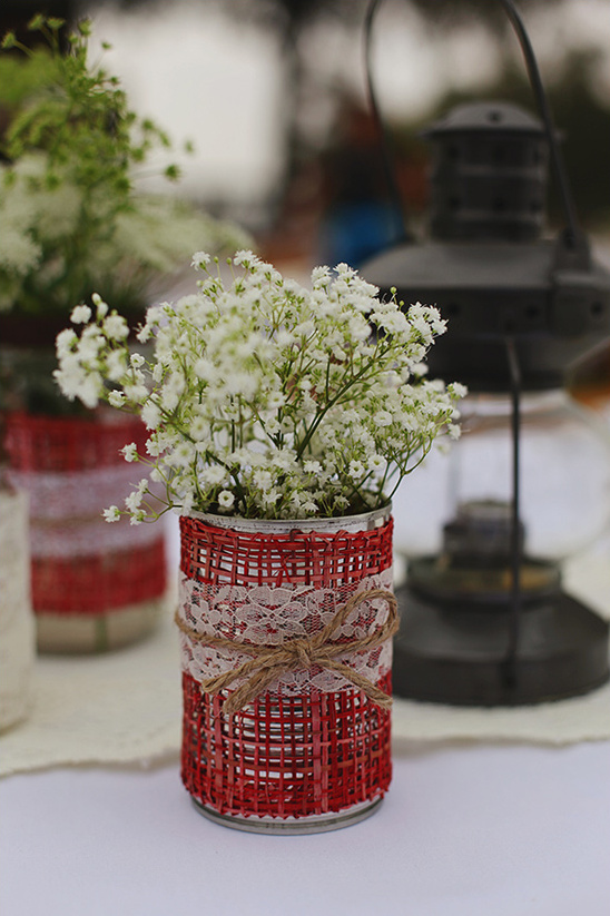 rustic lace table decoration ideas