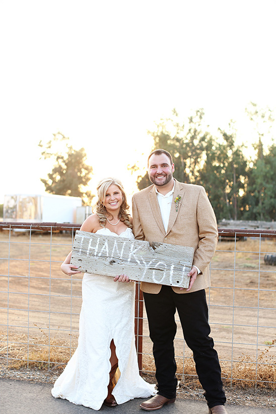 rustic thank you sign