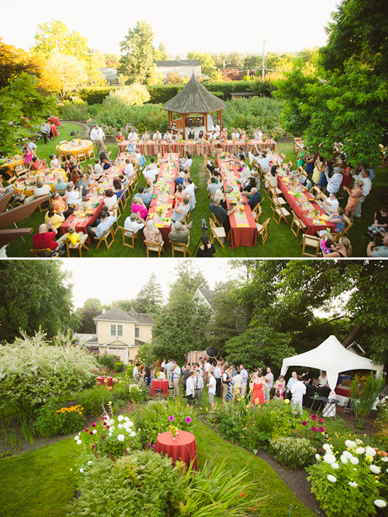 outdoor reception at The Marshall House