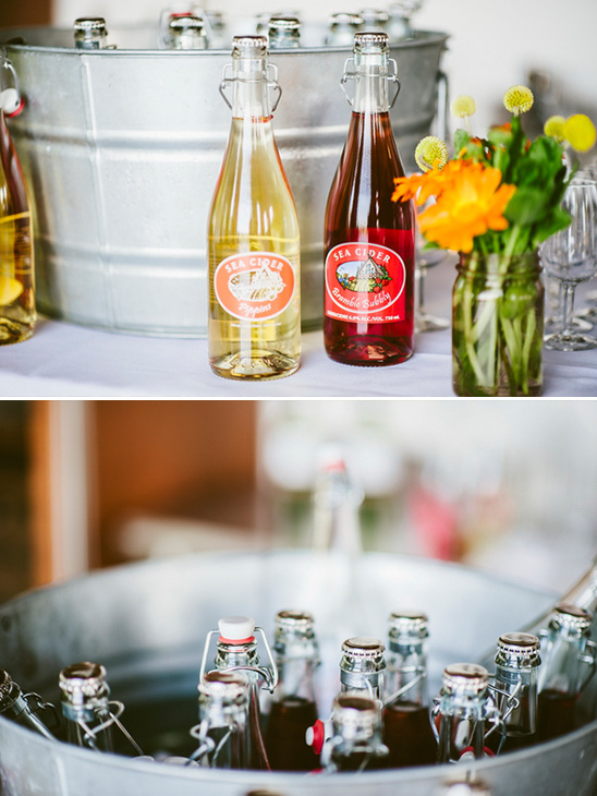 wedding drinks provided by Sea Cider Farm & Ciderhouse
