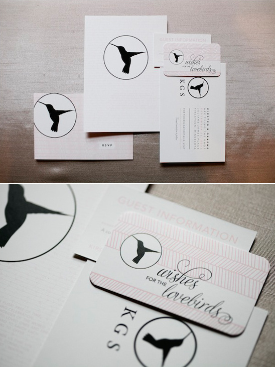 hummingbird wedding invites