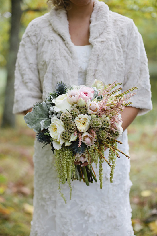 pink, white and green bridal bouquet by Munster Rose