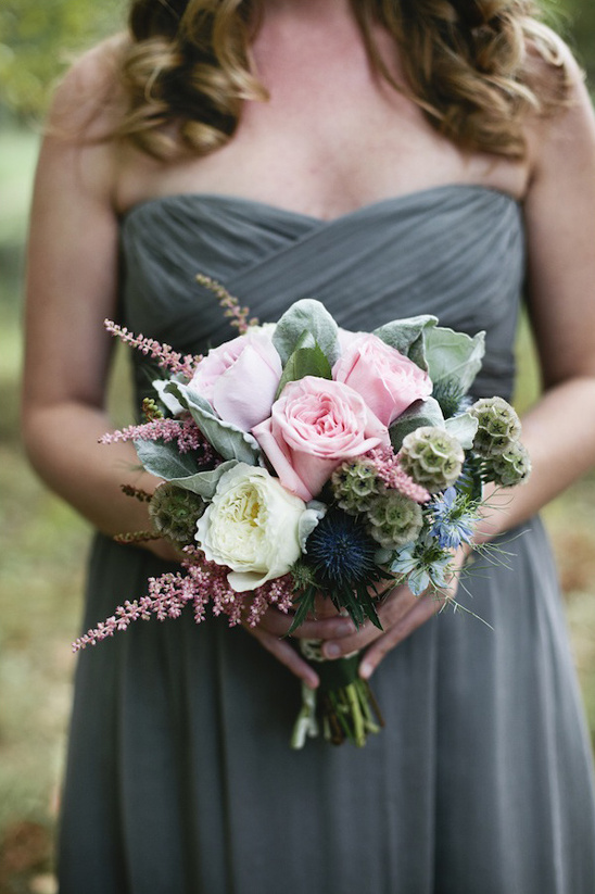 pink and green bouquet by Munster Rose