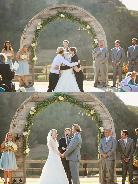 wedding ceremony at Holland Ranch