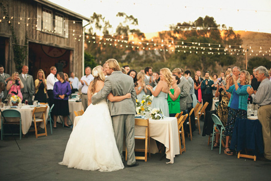 outdoor reception at Holland Ranch