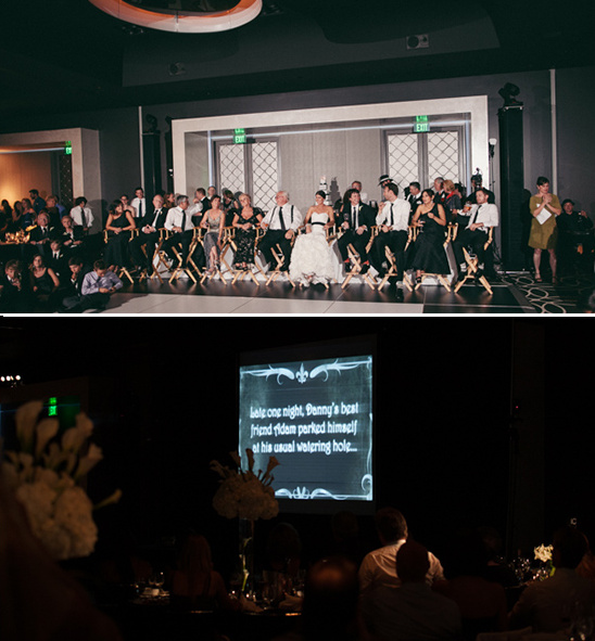 silent movie shown at wedding