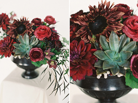 red and black flowers